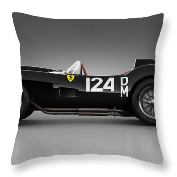 Ferrari 250 Testa Rossa - Rosette Throw Pillow by Marc Orphanos