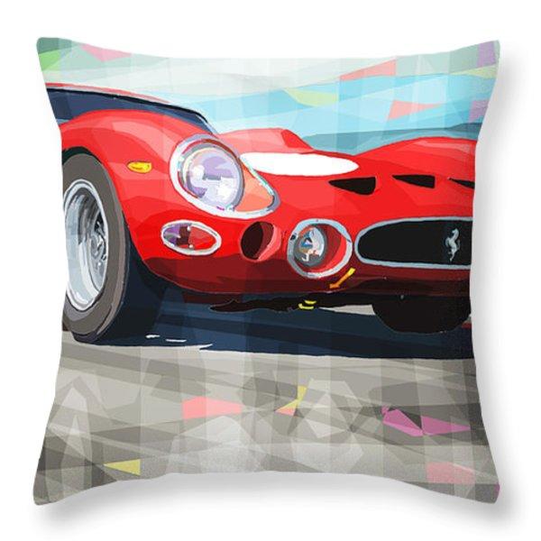 Ferrari 330 GTO 1962 Throw Pillow by Yuriy Shevchuk