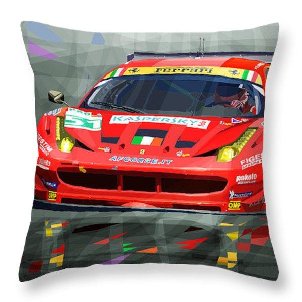 Ferrari 458 Gtc Af Corse Throw Pillow by Yuriy  Shevchuk