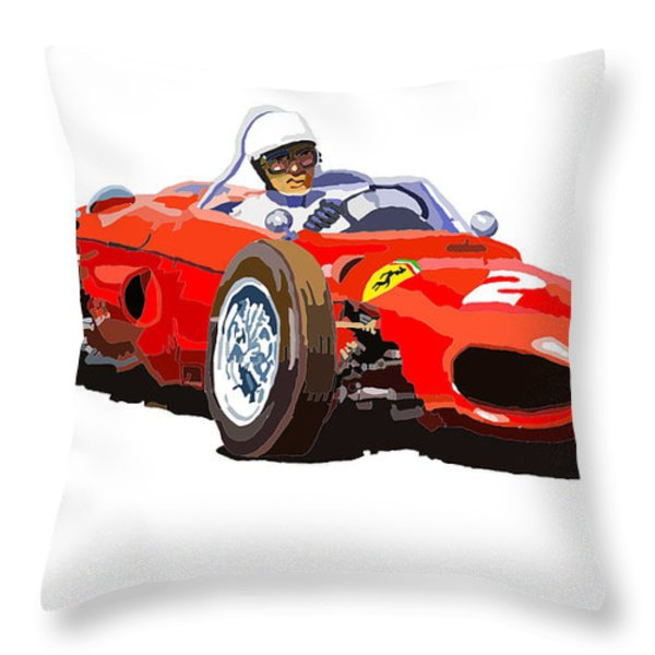 Ferrari Dino 156 1962  Throw Pillow by Yuriy  Shevchuk