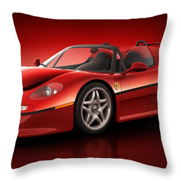 Ferrari F50 - Flare Throw Pillow by Marc Orphanos