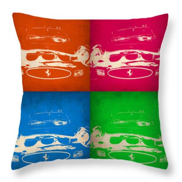 Ferrari Front Pop Art 4 Throw Pillow by Naxart Studio