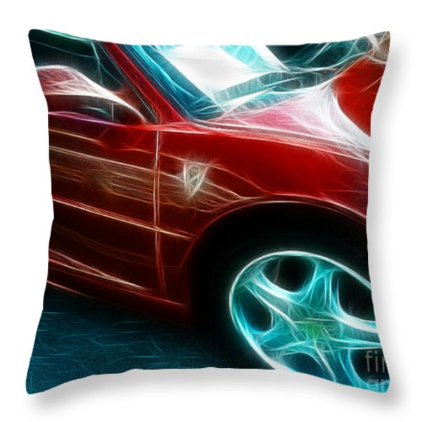Ferrari In Red Throw Pillow by Paul Ward