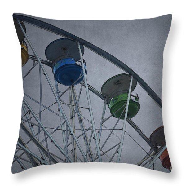 Ferris Wheel Throw Pillow by David Gordon