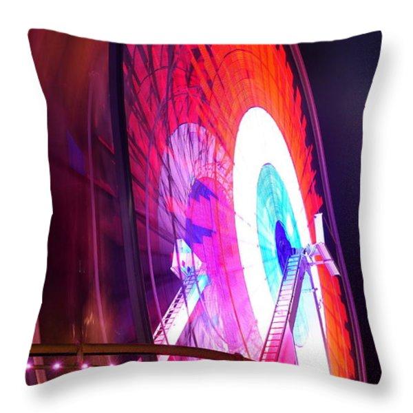 Ferris Wheel Throw Pillow by Gandz Photography
