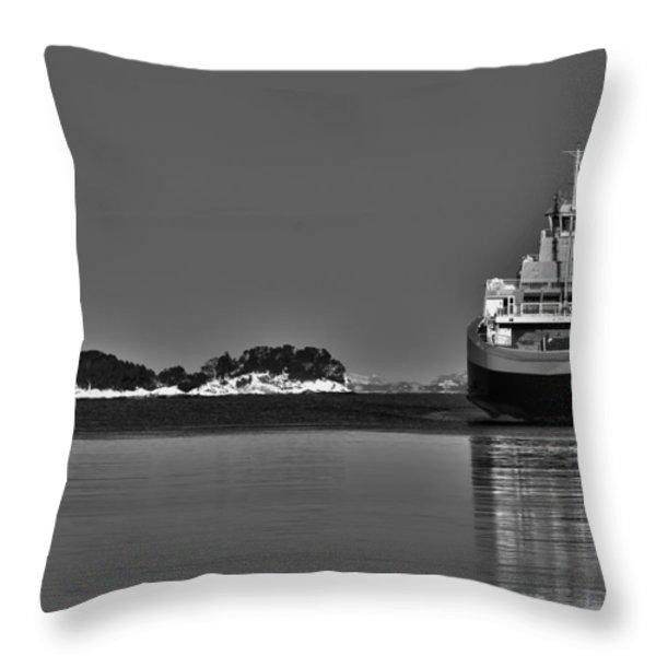 Ferry To Nowhere Throw Pillow by Erik Brede