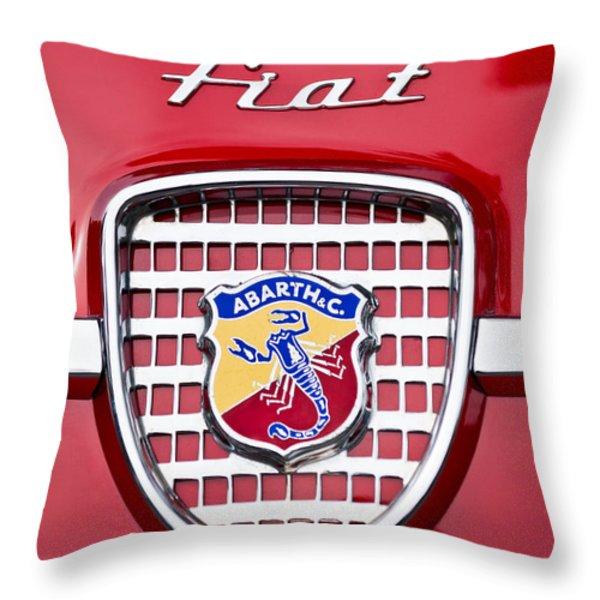 Fiat Emblem 2 Throw Pillow by Jill Reger