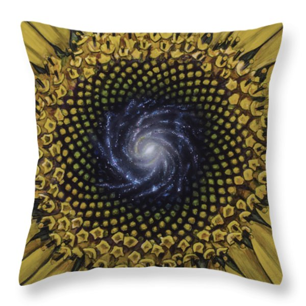 Fibonaccis Mandela V.2 Throw Pillow by Simon Kregar