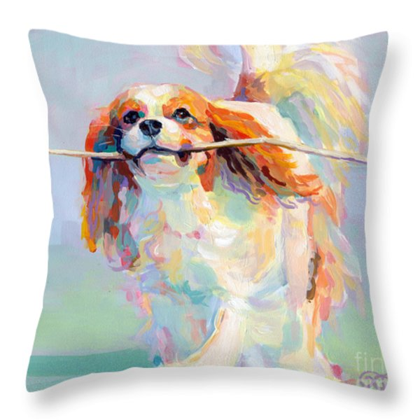 Fiddlesticks Throw Pillow by Kimberly Santini