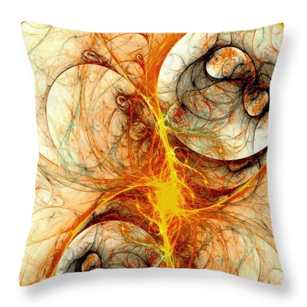 Fiery Birth Throw Pillow by Anastasiya Malakhova