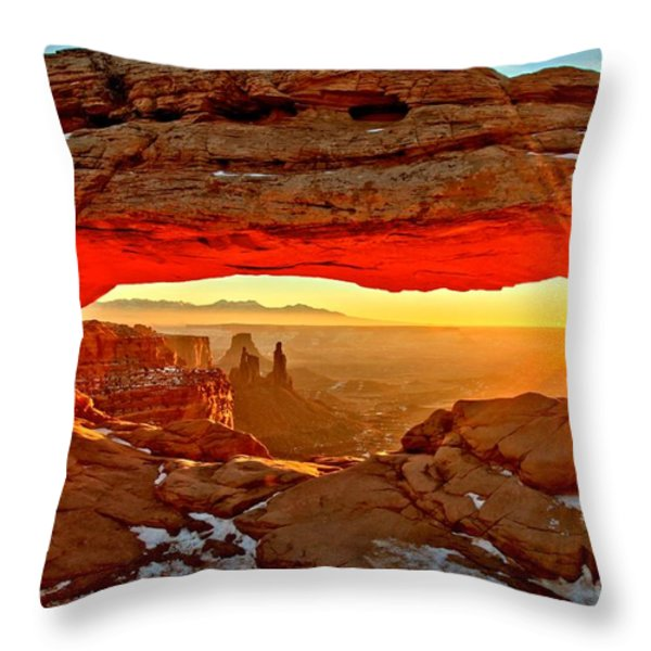Fiery Morning Throw Pillow by Adam Jewell