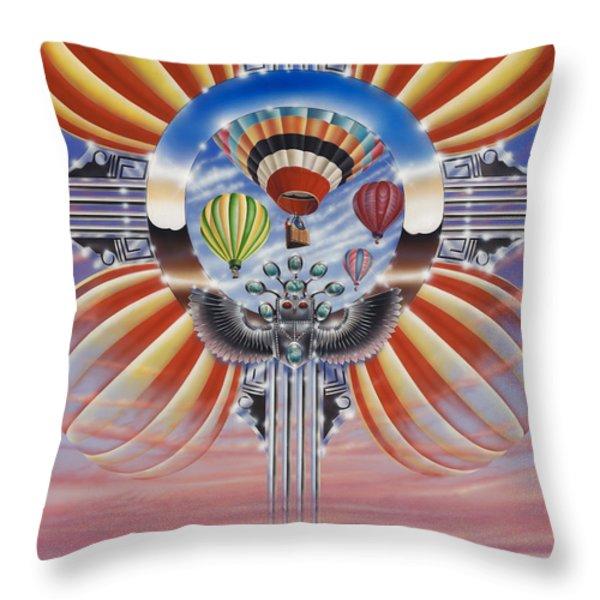Fiesta De Colores Throw Pillow by Ricardo Chavez-Mendez