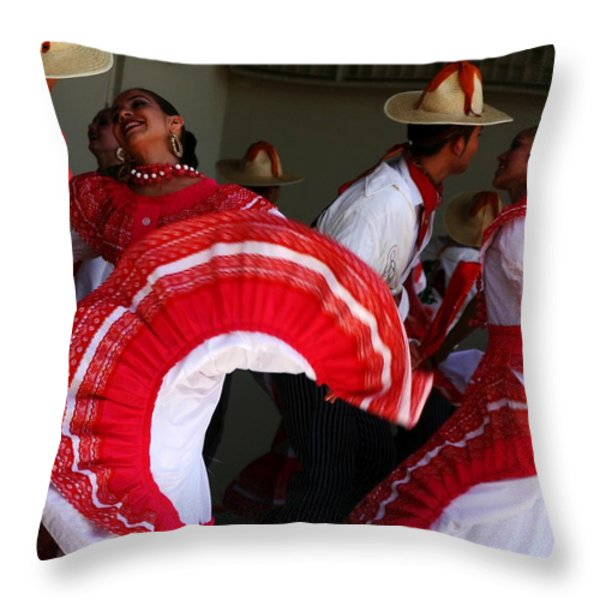 Fiesta De Los Mariachis Throw Pillow by Joe Kozlowski