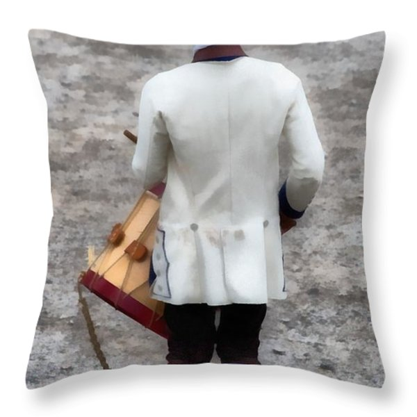 Fife and Drum Throw Pillow by Edward Fielding