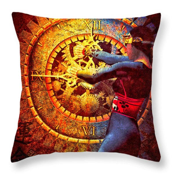 Fifteen Minutes  Throw Pillow by Bob Orsillo