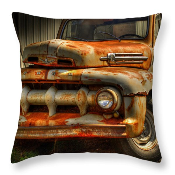 Fifty Two Ford Throw Pillow by Thomas Young