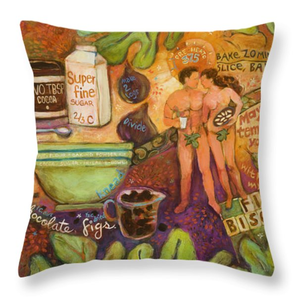 Fig Biscotti Recipe Throw Pillow by Jen Norton