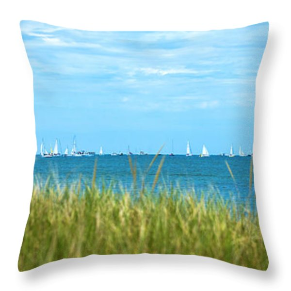 Figawi Sailboat Race Throw Pillow by Diane Diederich