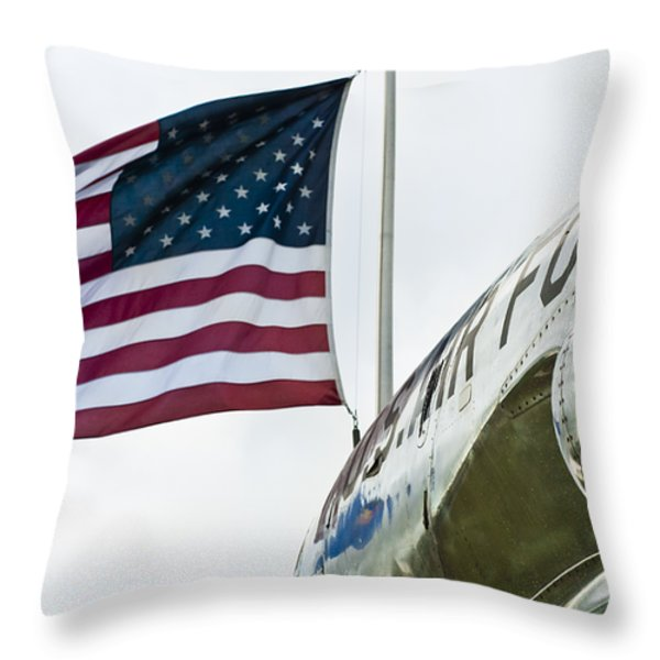 Fighting Flyers Throw Pillow by Christi Kraft