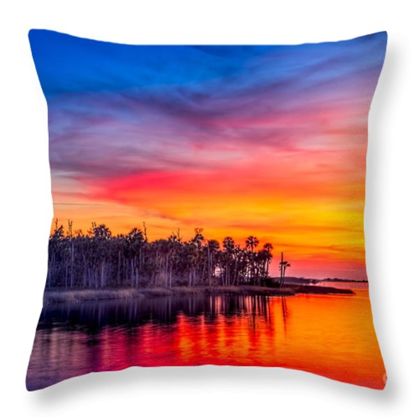 Final Glow Throw Pillow by Marvin Spates