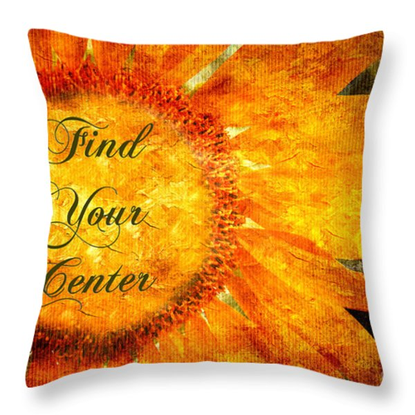 Find Your Center  Throw Pillow by Andee Design