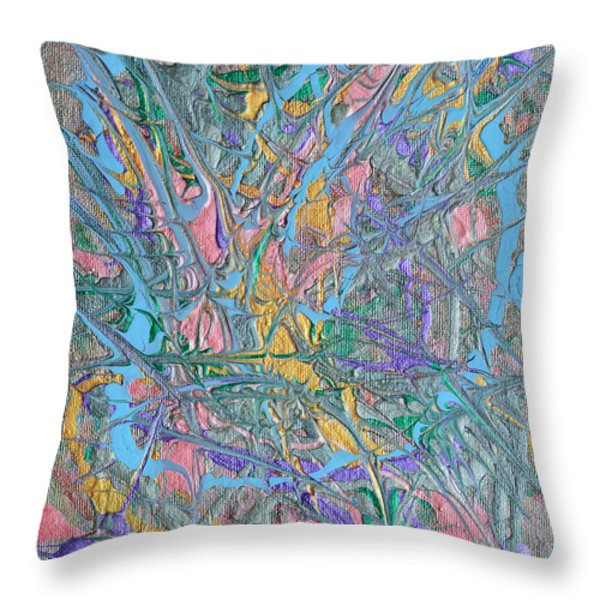 Finding Easter Throw Pillow by Donna Blackhall