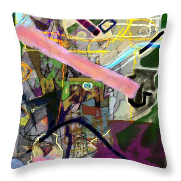 Finding Meaning Despite Appearances 2h Throw Pillow by David Baruch Wolk