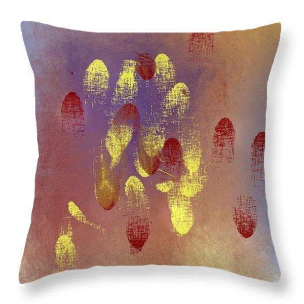 Fingerprints Throw Pillow by John Krakora