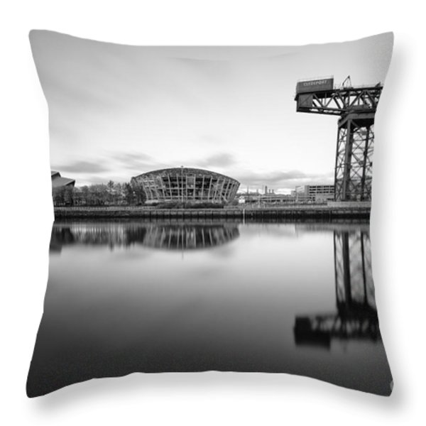 Finnieston Crane Glasgow Throw Pillow by John Farnan
