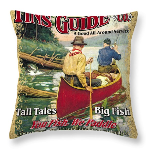 Fins Guide Service Throw Pillow by JQ Licensing