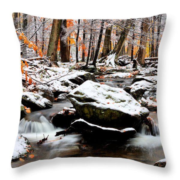 Fire And Ice Throw Pillow by JC Findley