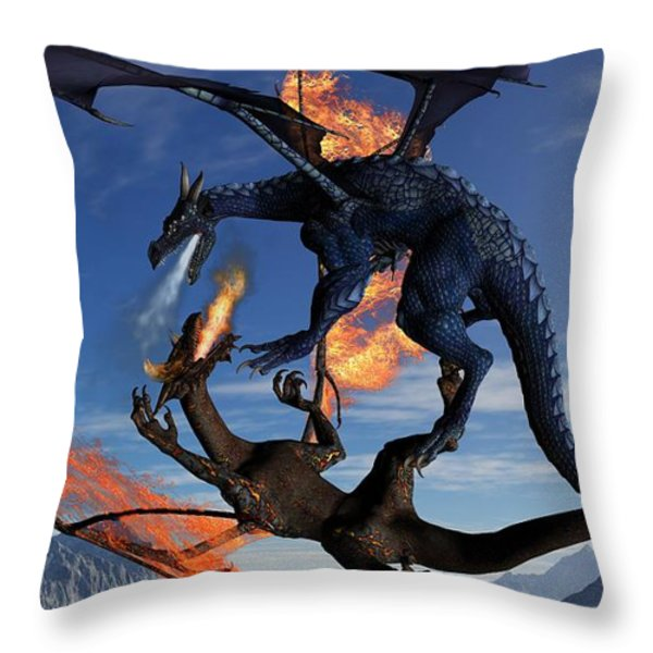 Fire And Ice Throw Pillow by Todd and candice Dailey