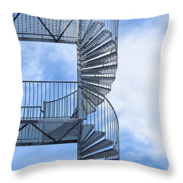 Fire Escape Throw Pillow by Antony McAulay