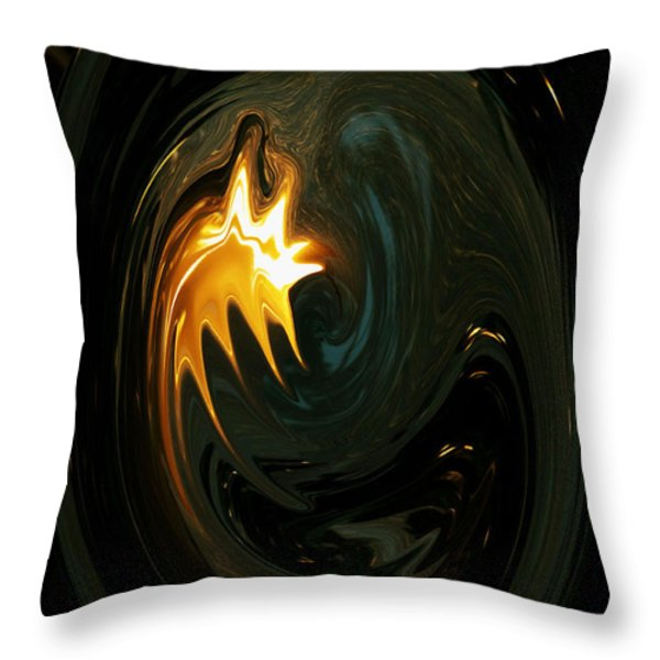 Fire From Above Throw Pillow by Ella Char