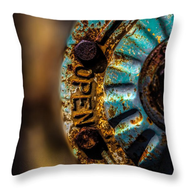 Fire Hydrant  Throw Pillow by Bob Orsillo