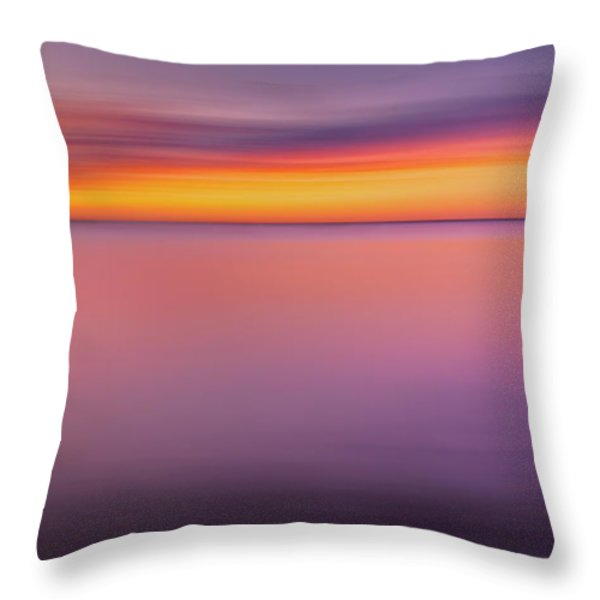 Fire In The Sky Throw Pillow by Bill  Wakeley