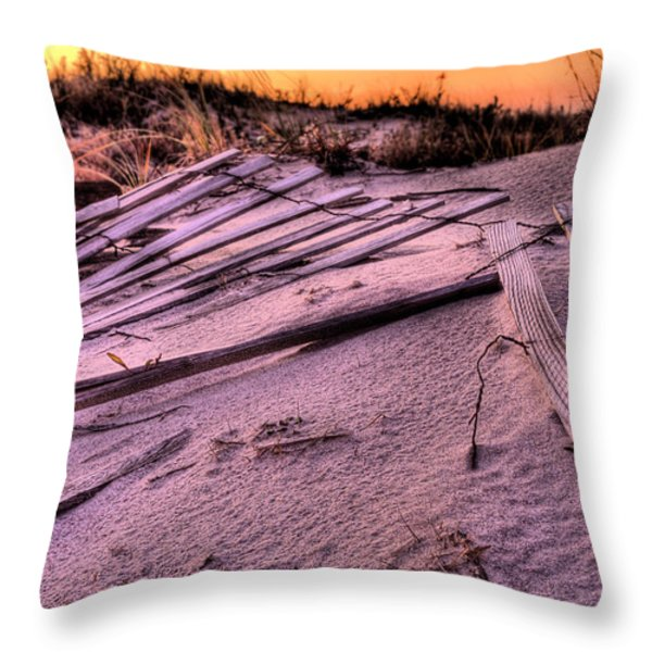Fire Island Throw Pillow by JC Findley