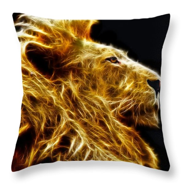 Fire King Throw Pillow by Michael Durst