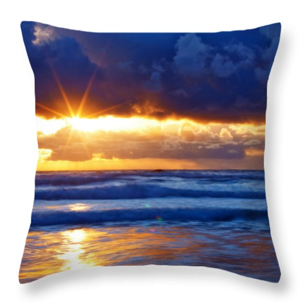 Fire on the Horizon Throw Pillow by Darren  White