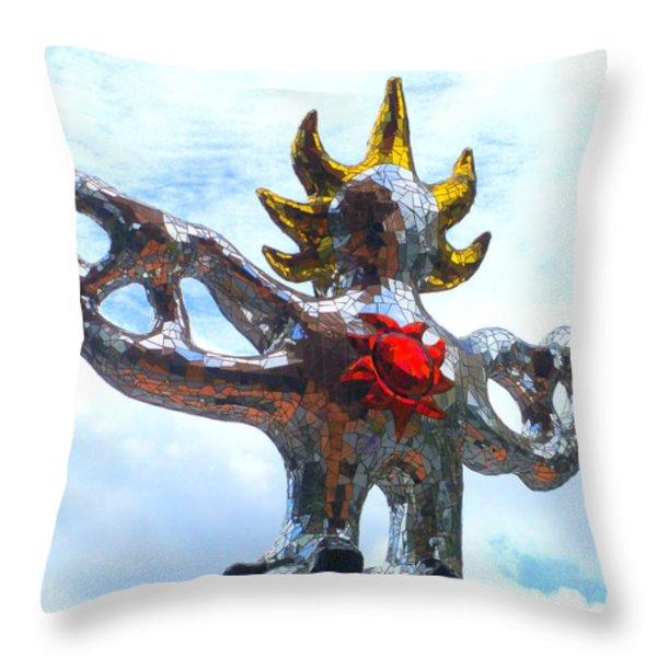Firebird Heart Throw Pillow by Randall Weidner