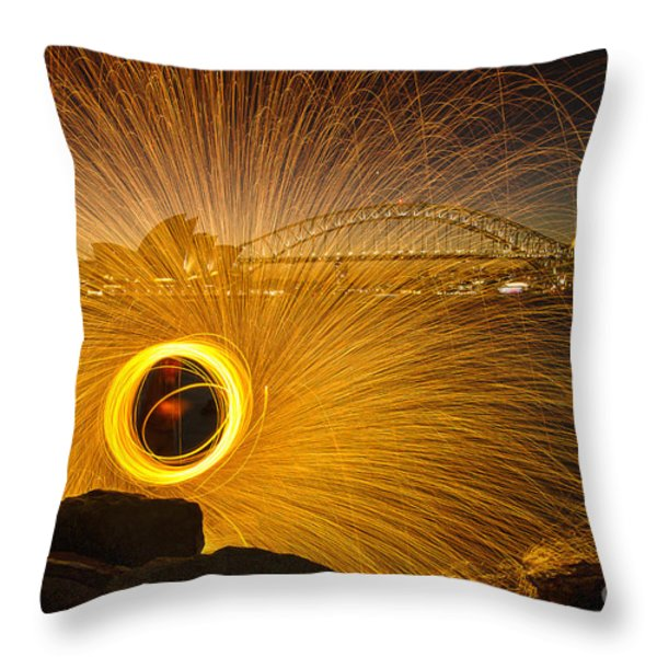 Fireflies Throw Pillow by Andrew Paranavitana