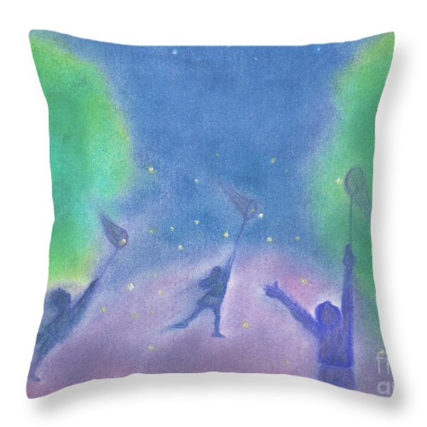 Fireflies By Jrr Throw Pillow by First Star Art