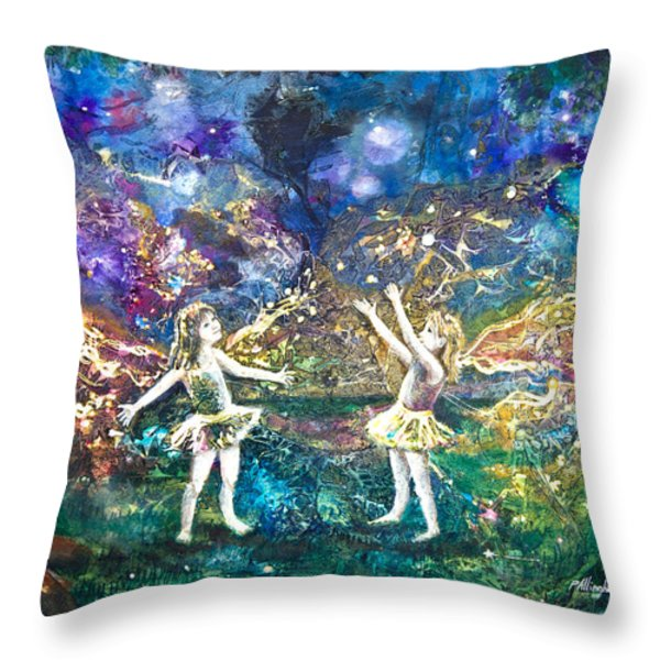 Firefly Frolic Throw Pillow by Patricia Allingham Carlson