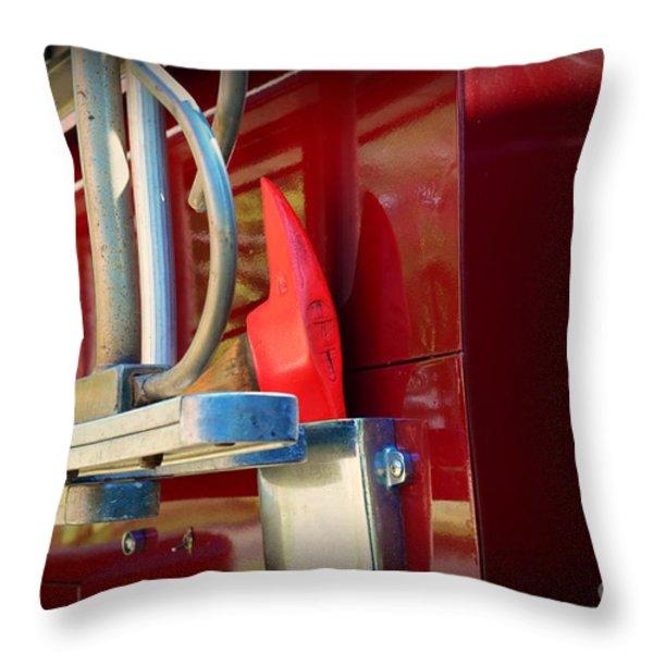 Fireman Hook and Ladder Throw Pillow by Paul Ward