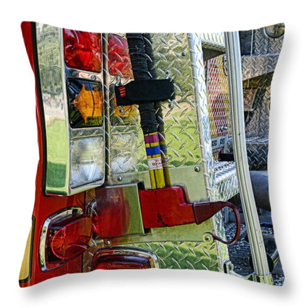 Fireman keep back 300 feet Throw Pillow by Paul Ward