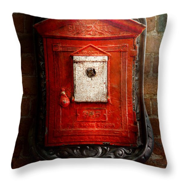 Fireman - The fire box Throw Pillow by Mike Savad