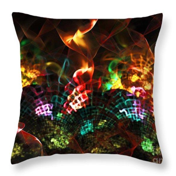 Fireplace Throw Pillow by Klara Acel