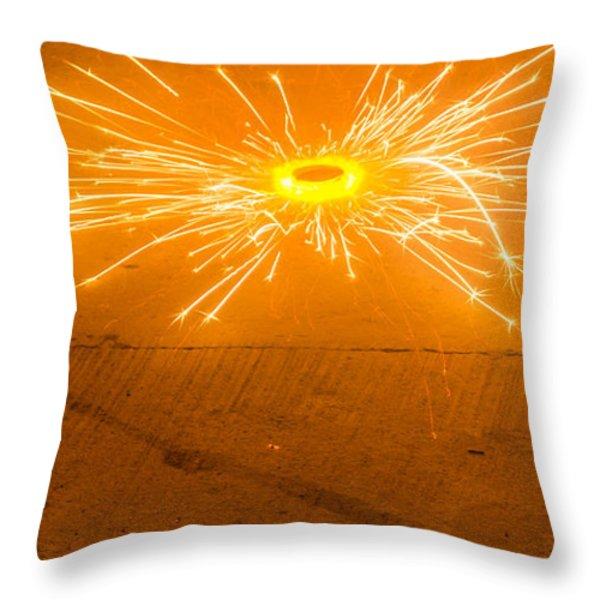 Firework Wheel Throw Pillow by Image World