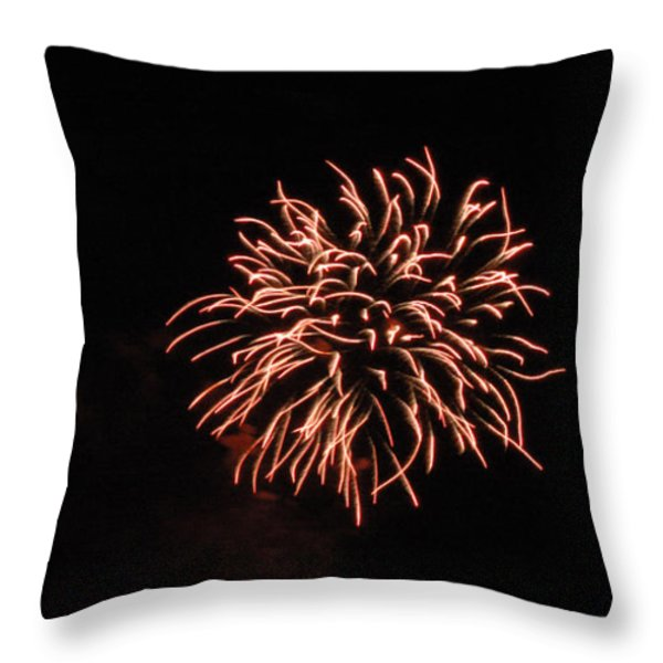 Fireworks 2 Throw Pillow by Scott Angus