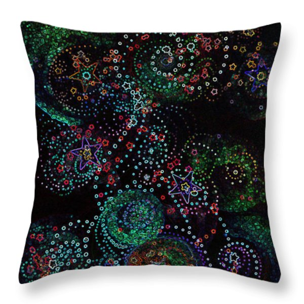 Fireworks Celebration By Jrr Throw Pillow by First Star Art